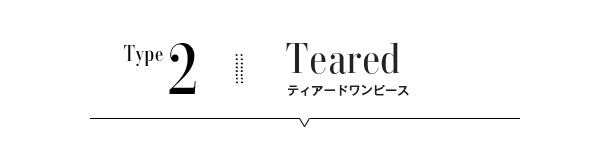 Teared ティアードワンピース